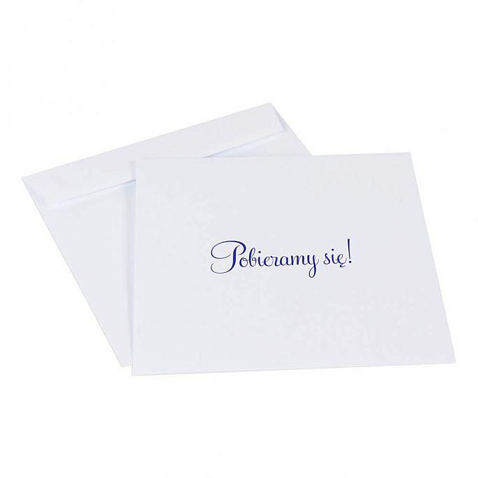 koperty do zaproszeń ślubnych k4 kwadratowe białe i kremowe z nadrukiem