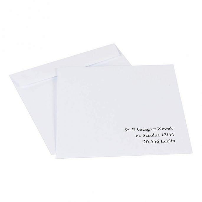 koperty do zaproszeń ślubnych z nadrukiem