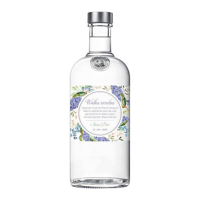 Naklejki na alkohol z kwiatami bzu