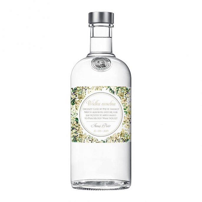 Naklejki na alkohol z kwiatami bzu w2