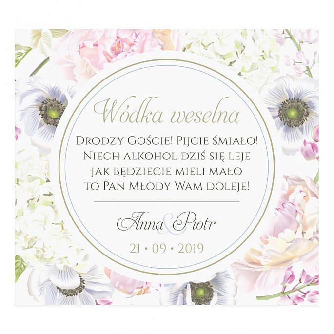 Naklejki na alkohol Florals w10