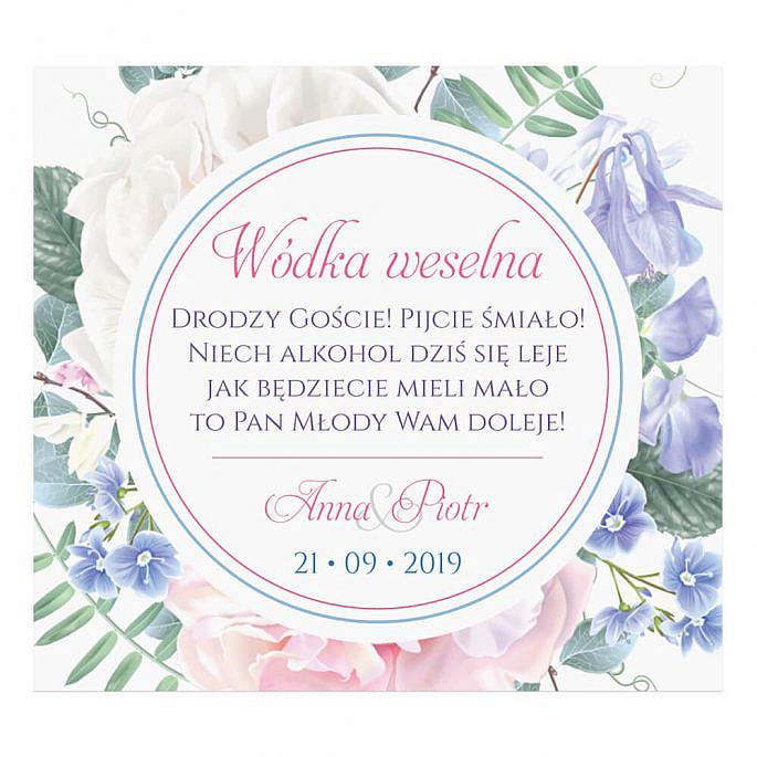 Naklejki na alkohol Florals w11