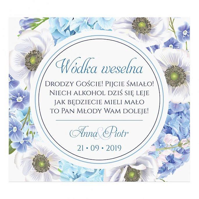 Naklejki na alkohol Florals w12