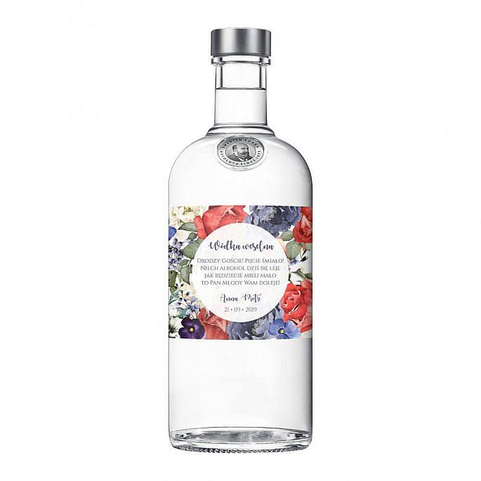 Naklejki na alkohol Flowery