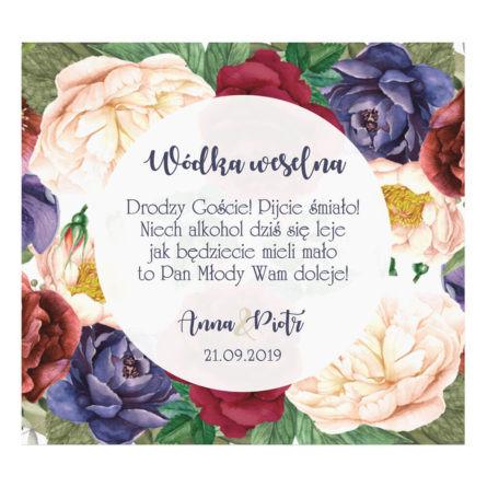 Naklejki na alkohol Flowery w2