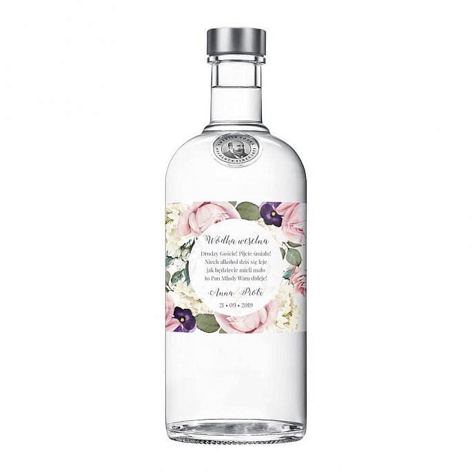 Naklejki na alkohol Flowery w3