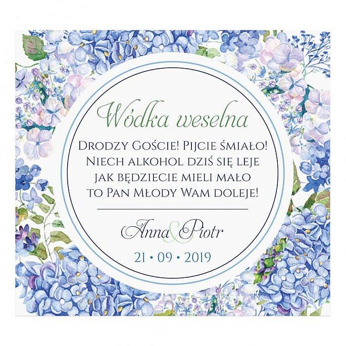 Naklejki na alkohol z kwiatami Hortensji w4