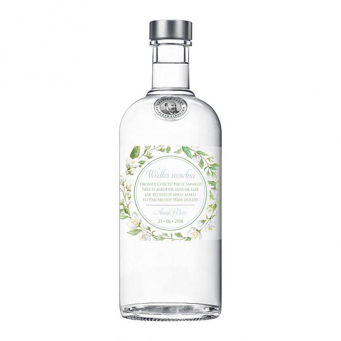 Naklejki na alkohol z kwiatami jaśminu