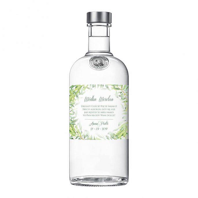 Naklejki na alkohol z gałązkami oliwnymi