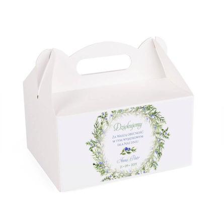Pudełko na ciasto z gałązkami jałowca