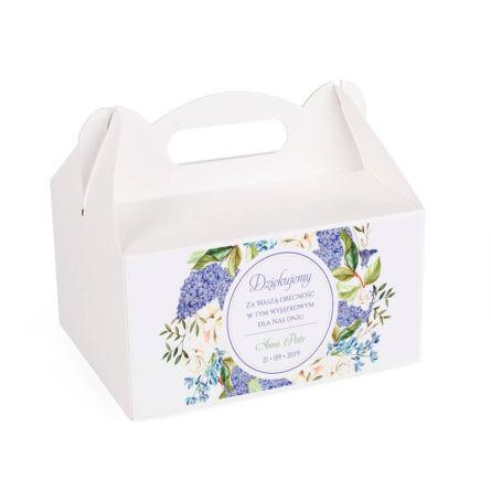 Pudełko na ciasto z kwiatami bzu