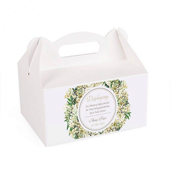 Pudełko na ciasto z kwiatami bzu w2