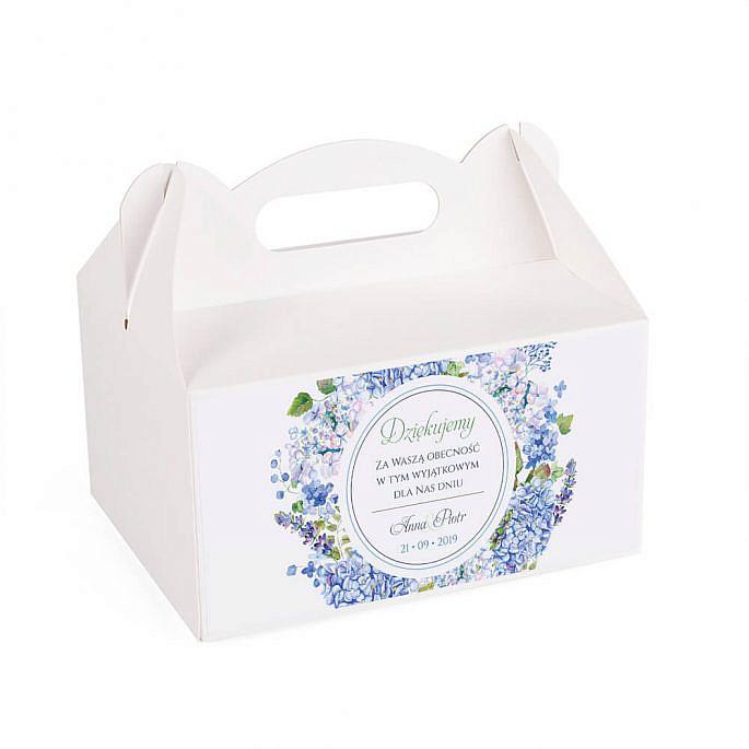 Pudełko na ciasto z kwiatami Hortensji w4