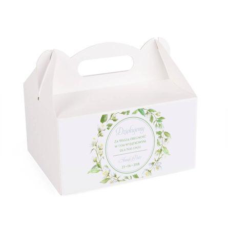 Pudełko na ciasto z kwiatami jaśminu