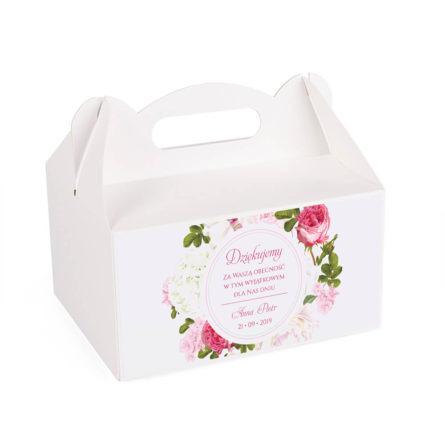 Pudełko na ciasto z kwiatami Piwonii w11