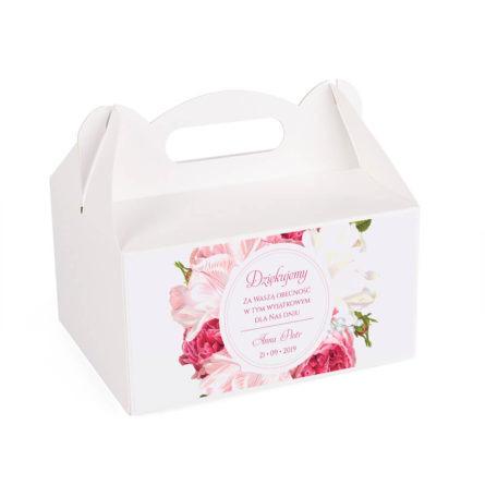 Pudełko na ciasto z kwiatami Piwonii w12