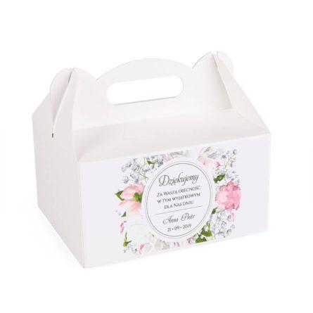 Pudełko na ciasto z kwiatami Piwonii w13