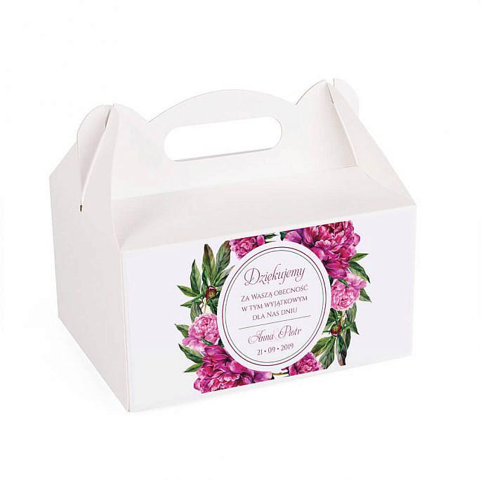 Pudełko na ciasto z kwiatami Piwonii w14