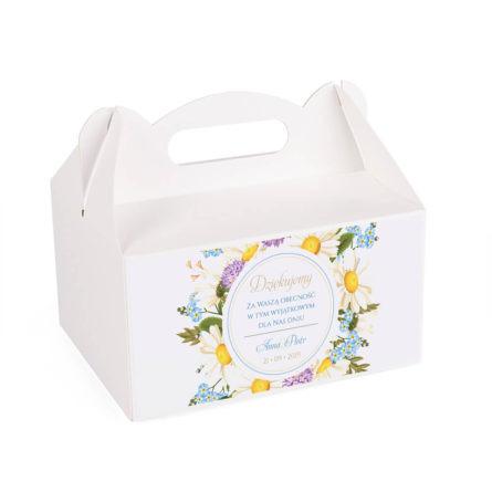 Pudełko na ciasto z kwiatami polnymi w2