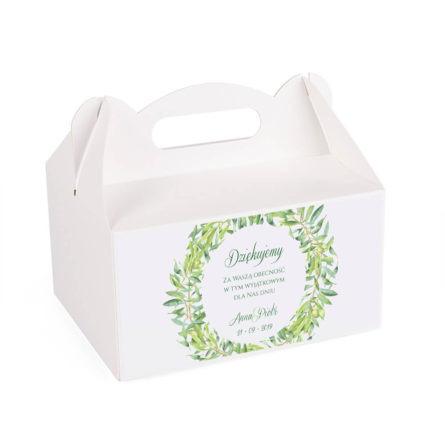 Pudełko na ciasto z gałązkami oliwnymi