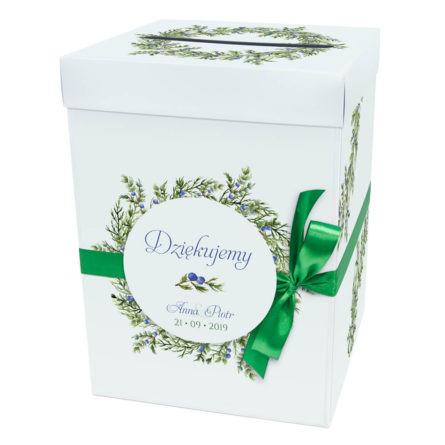 Pudełko na koperty z gałązkami jałowca