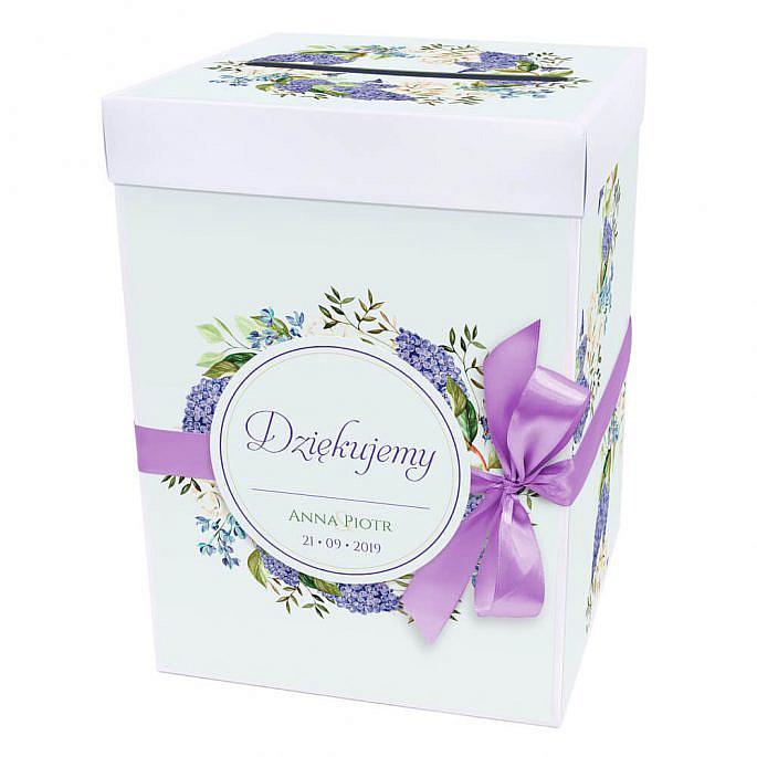 Pudełko na koperty z kwiatami bzu