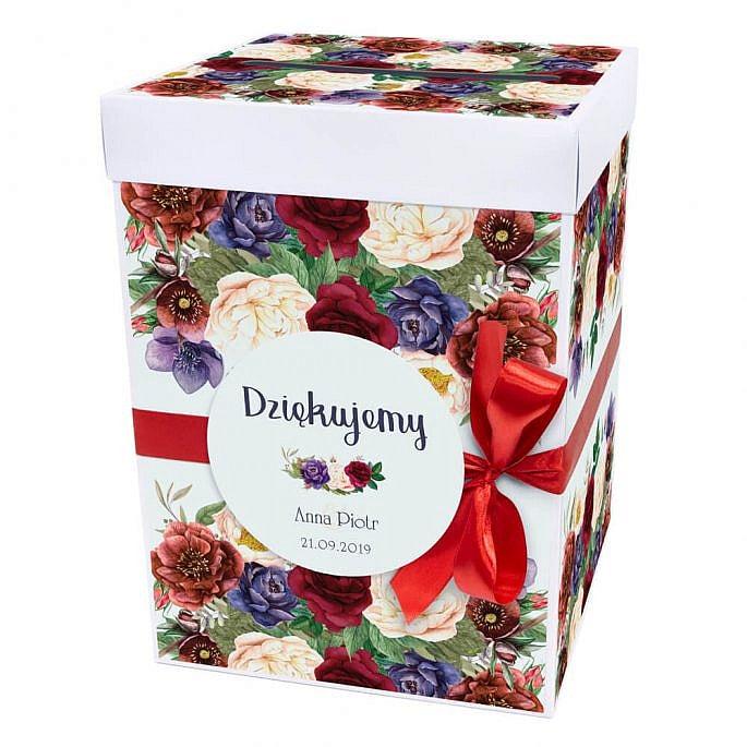 Pudełko na koperty flowery w2
