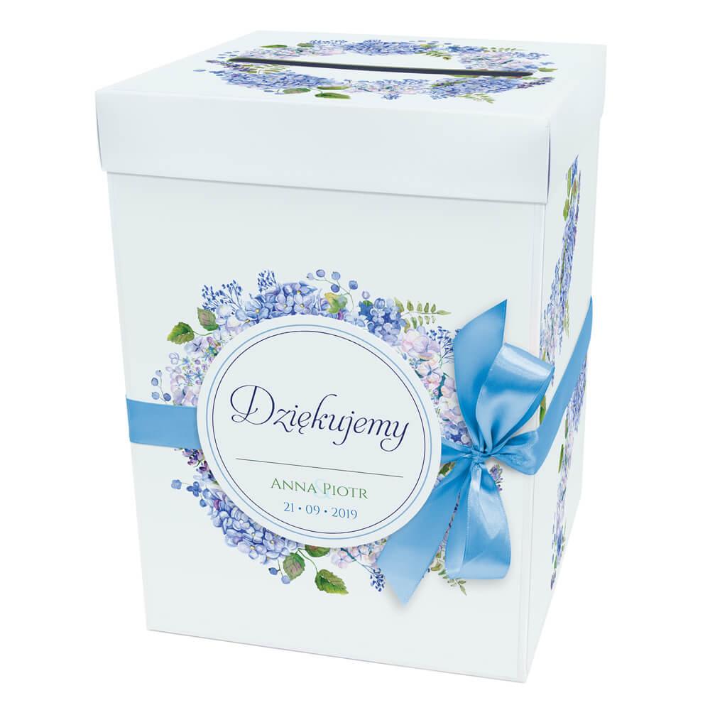 Pudełko na koperty z kwiatami hortensji w4