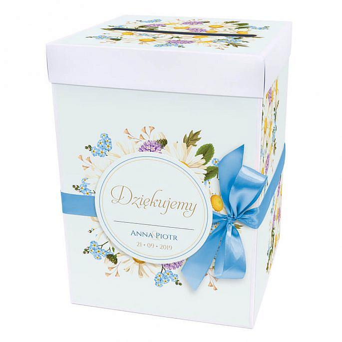 Pudełko na koperty z kwiatami polnymi w2