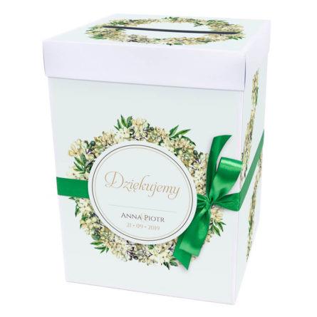 Pudełko na koperty z kwiatami bzu w2