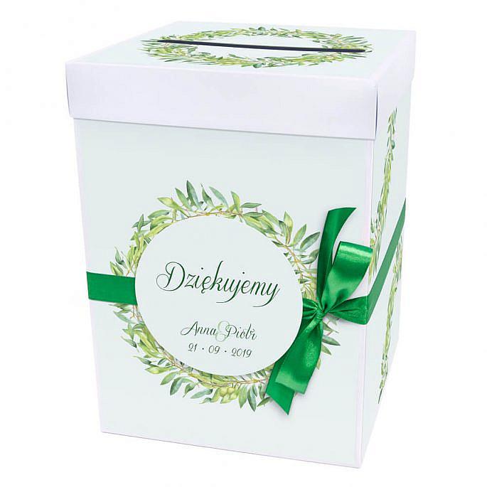 Pudełko na koperty z gałązkami oliwnymi
