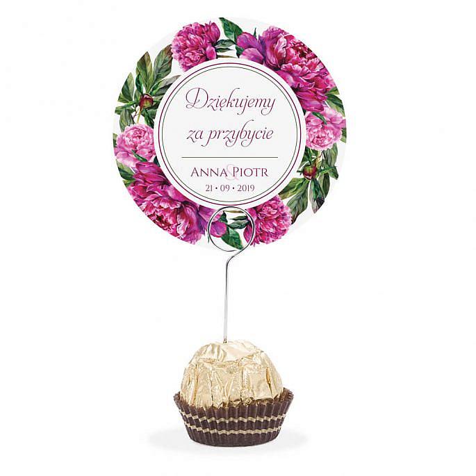 Winietka weselna na szpilce z kwiatami Piwonii w14