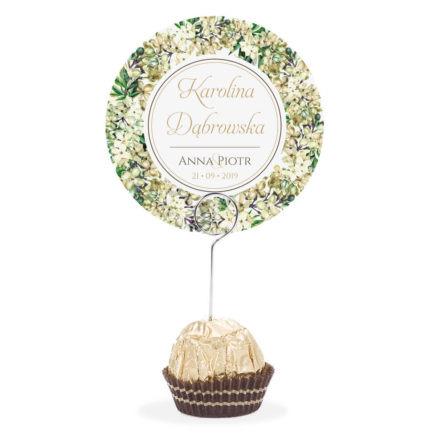 Winietka weselna na szpilce z kwiatami bzu w2