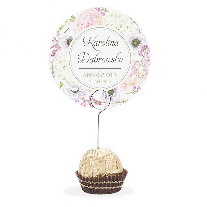 Winietka weselna na szpilce Florals w10