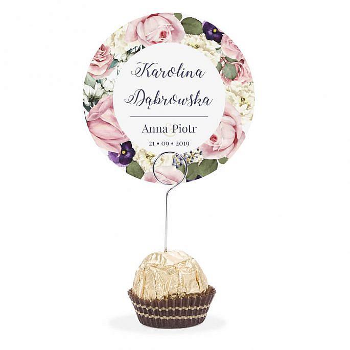 Winietka weselna na szpilce Flowery w3