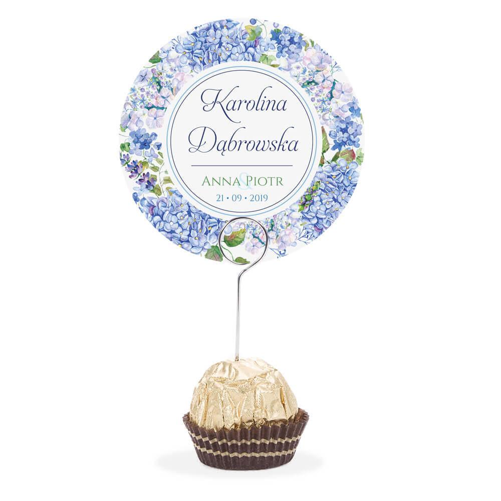Winietka weselna na szpilce z kwiatami Hortensji w4