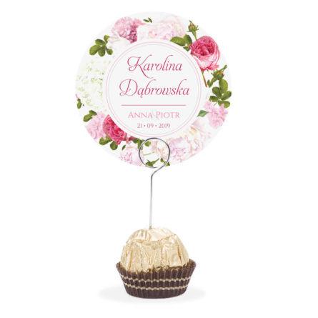 Winietka weselna na szpilce z kwiatami Piwonii w11