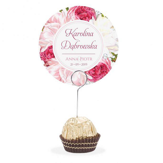 Winietka weselna na szpilce z kwiatami Piwonii w12