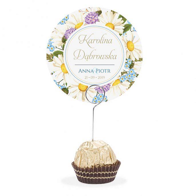 Winietka weselna na szpilce z kwiatami polnymi w2