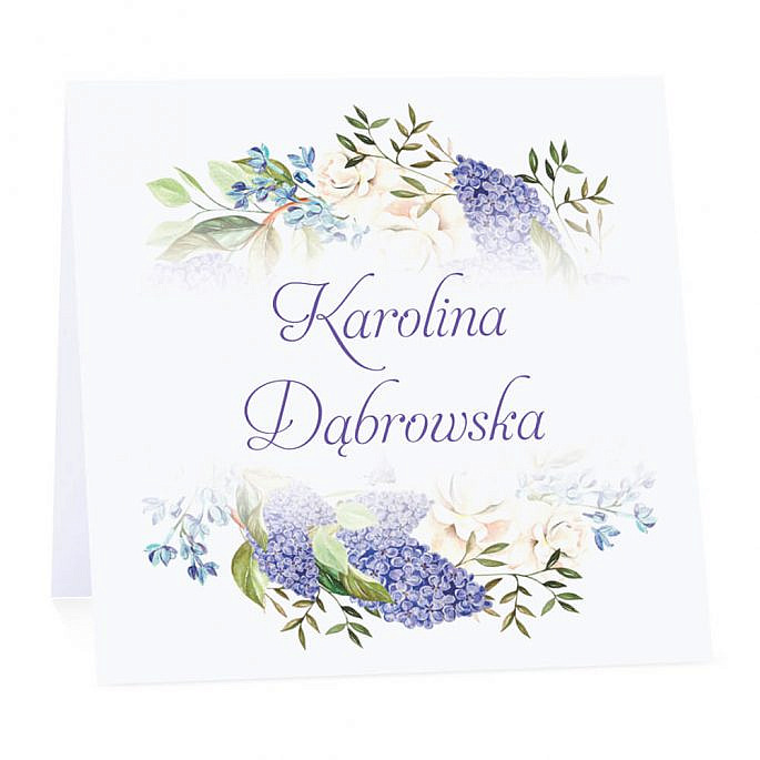 Winietka weselna z kwiatami bzu