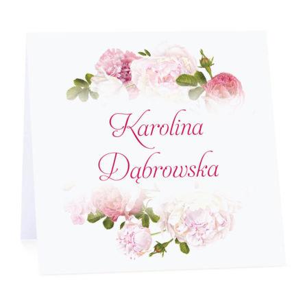 Winietka weselna z kwiatami piwonii w11