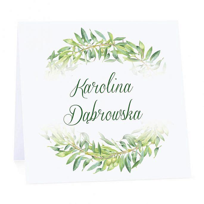 Winietka weselna z gałązkami oliwki