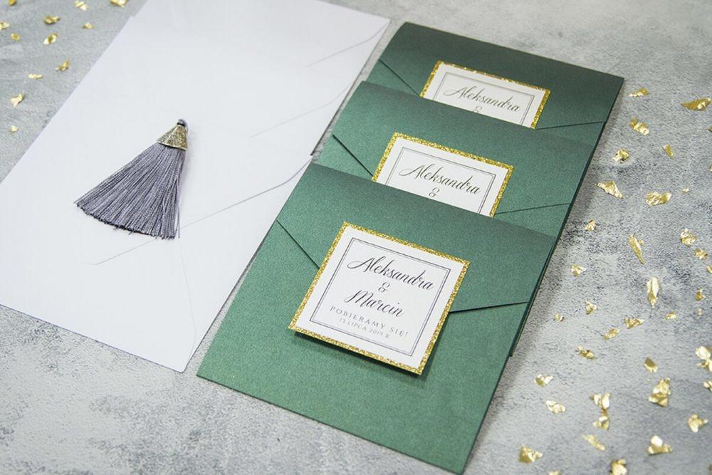 zaproszenia ślubne w stylu glamour