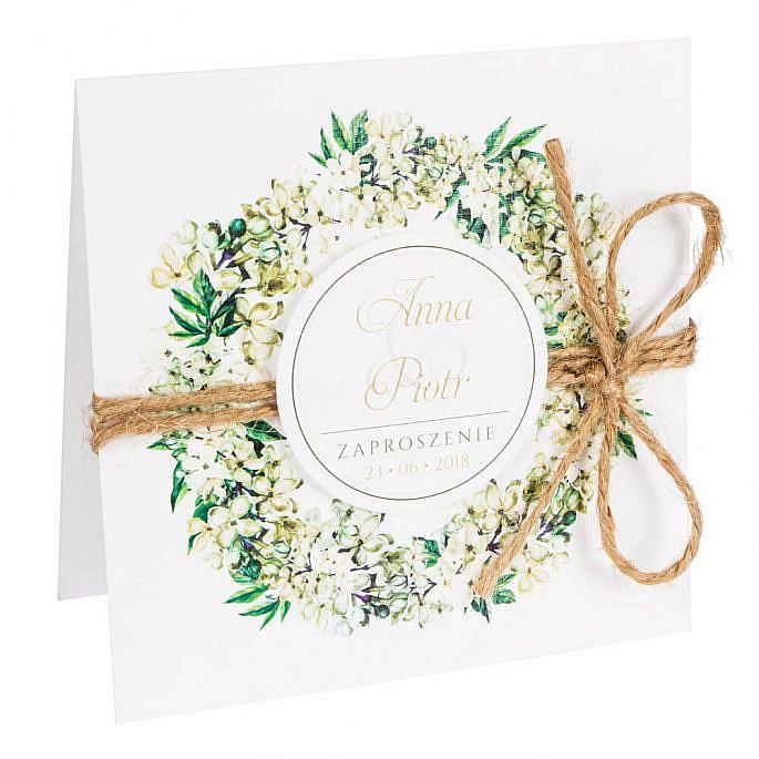 Zaproszenia ślubne z kwiatami bzu w2