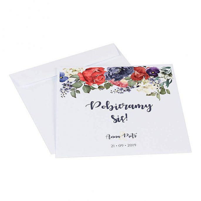Koperta do zaproszeń ślubnych Flowery