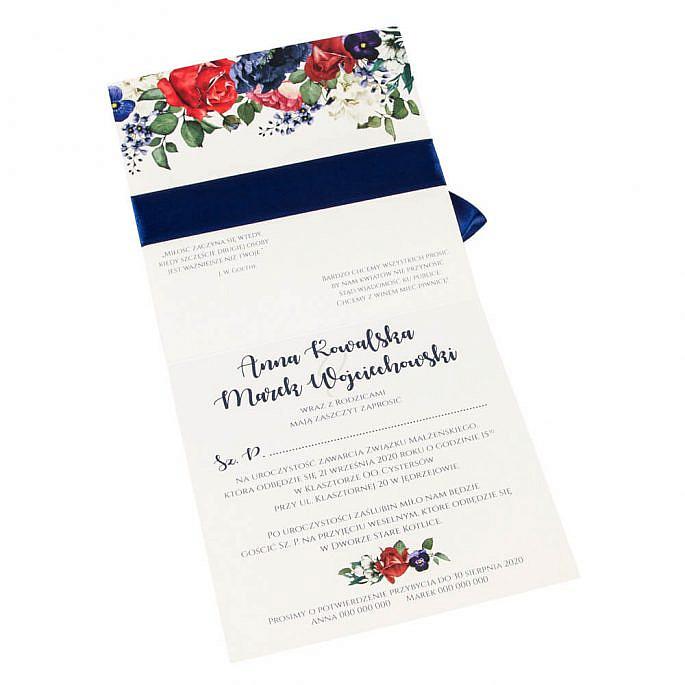 Zaproszenia ślubne Flowery