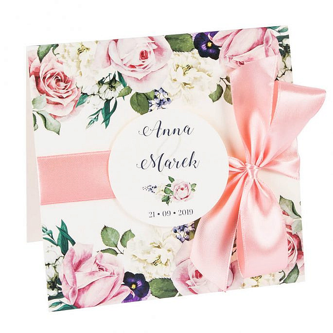 Zaproszenia ślubne Flowery w3