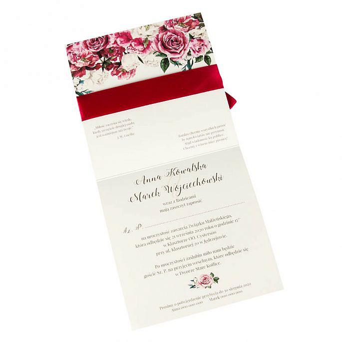 Zaproszenia ślubne Flowery w4