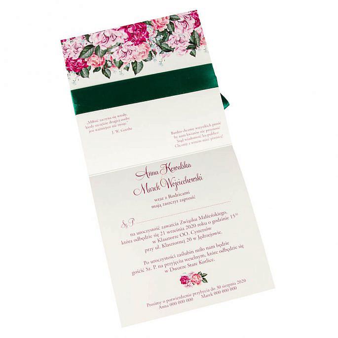 Zaproszenia ślubne Flowery w5