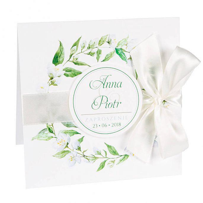 Zaproszenia ślubne z kwiatami jaśminu